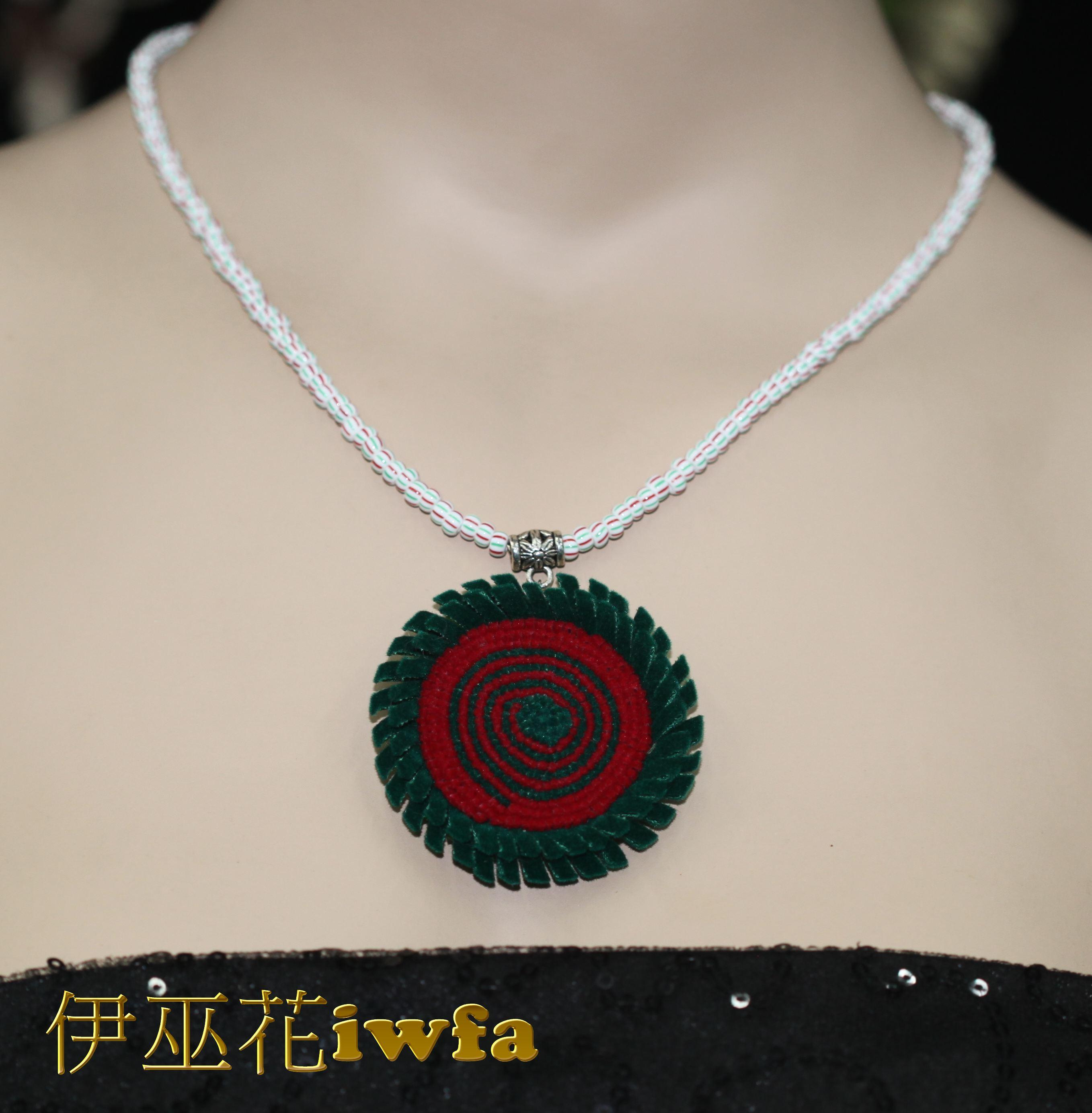 亮珠--琉璃彩虹-綠+紅
