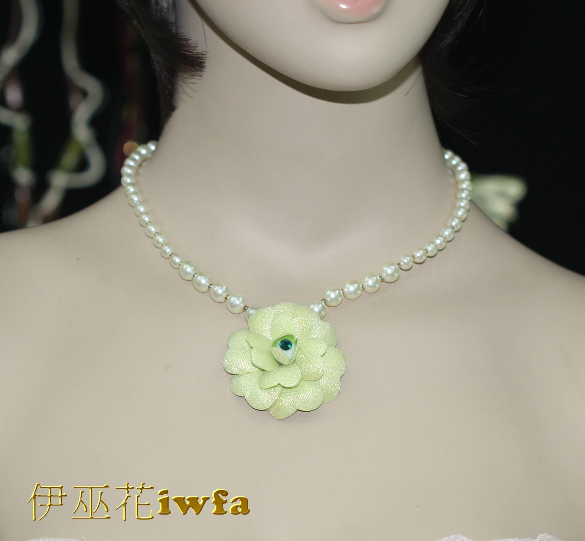 典雅的小茶花-綠色