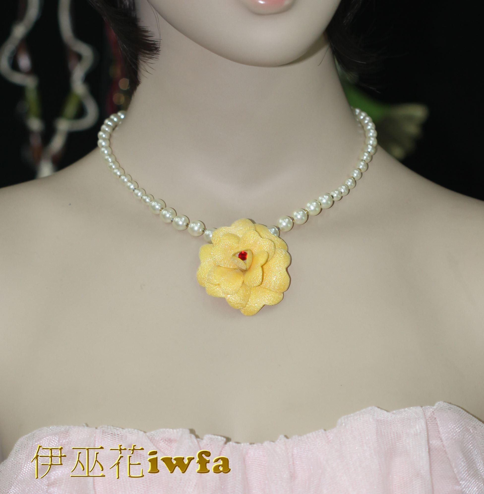 典雅的小茶花-黃色