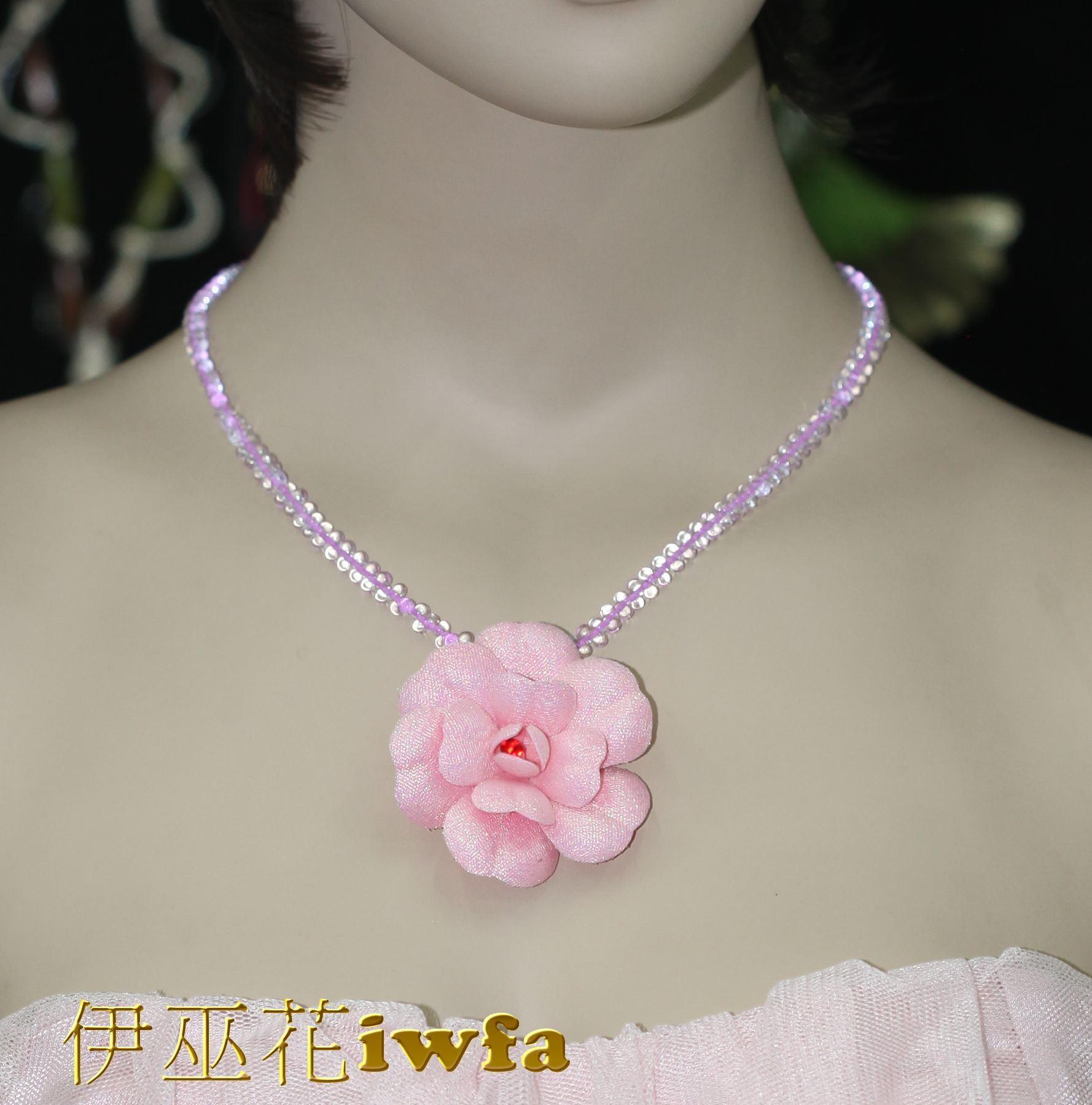 時尚-五彩茶花--粉色