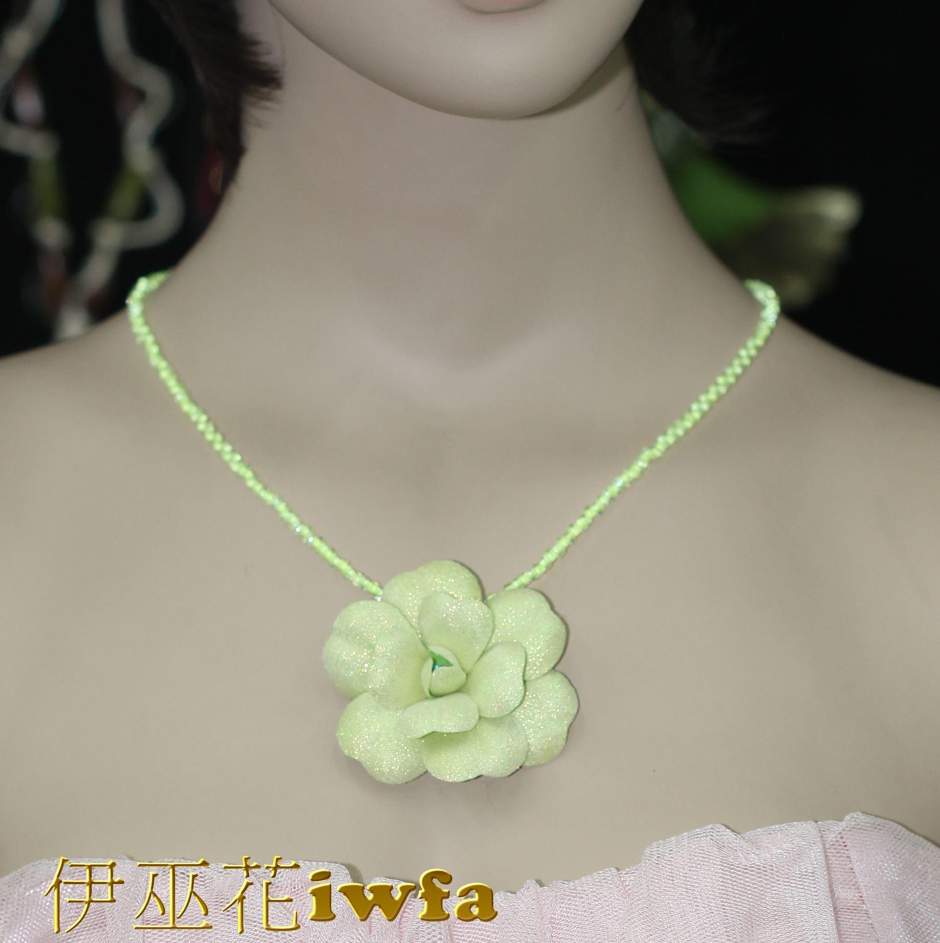 時尚-五彩茶花--蘋果綠