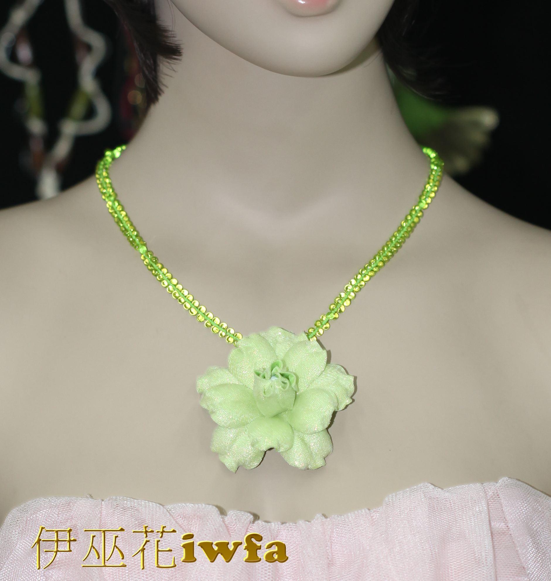 時尚--夢幻的花-蘋果綠