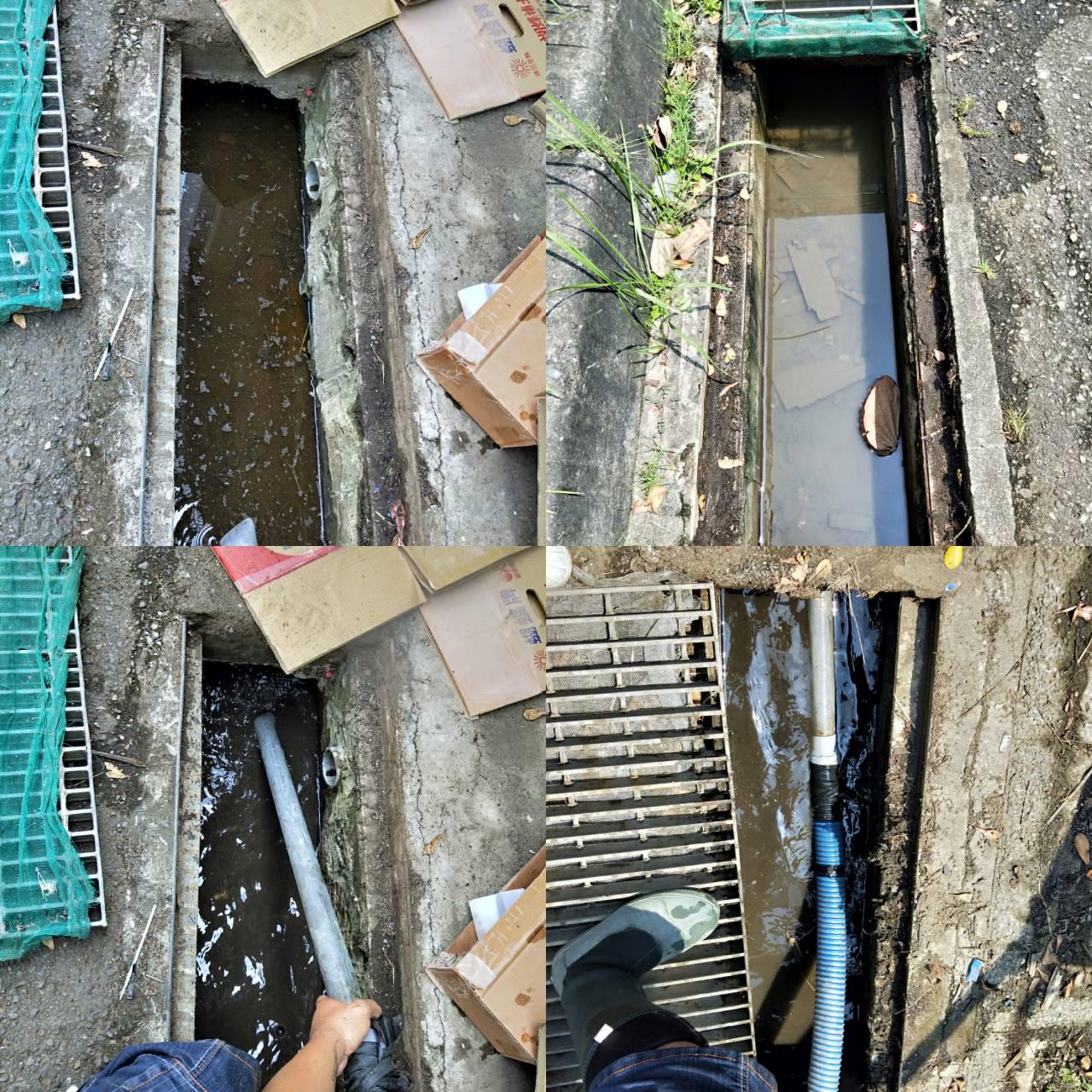 南科公司周圍水溝清洗疏通