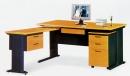辦公桌-3(木紋秘書桌)