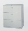 鐵櫃-4(抽屜三層式鋼製公文櫃)