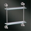 型號:HKA813-1 品名:不鏽鋼雙層玻璃平台(含護欄)