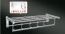 型號:HKA0841  品名:不鏽鋼304(砂光)雙層放衣架 附掛勾