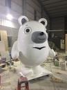 FRP大型白熊公仔