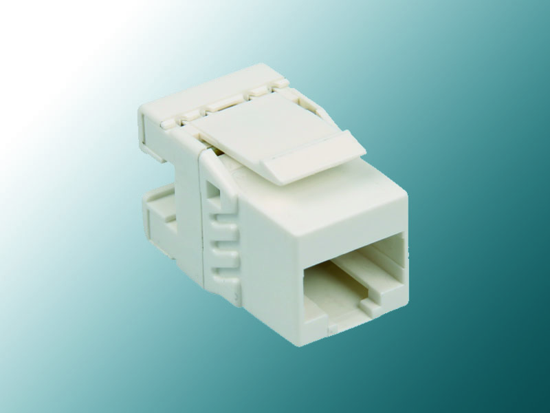 Cat 5E Mini 180° Unshielded Keystone Jack