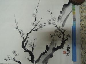 吳文彬-(墨梅),水墨畫作品