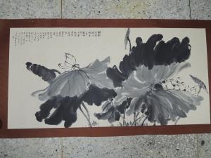 梁丹丰,墨荷,水墨畫作品