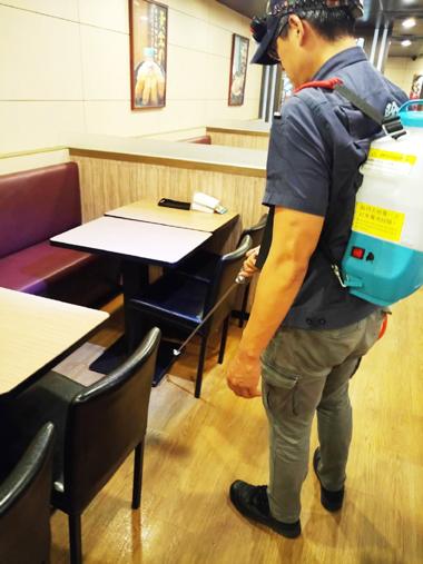 餐廳消毒實例