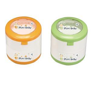 多功能雙層彩印粉撲盒附隔層,粉網,粉拍,粉撲球 (BB-26430)