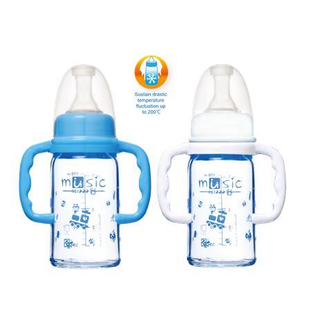 標準耐熱玻璃把手奶瓶120ml (02111BG)