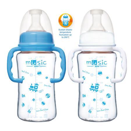 寬口耐熱玻璃奶瓶 240ml (08111BG)