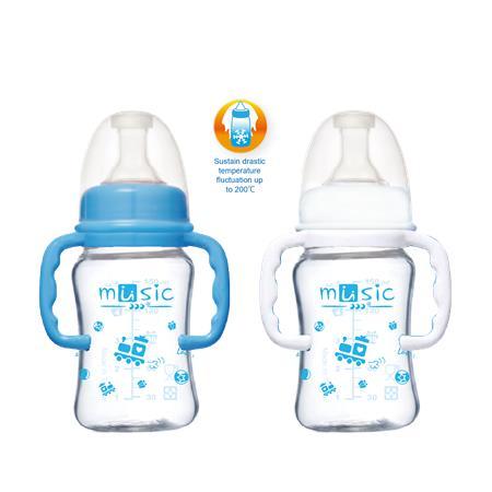 寬口耐熱玻璃奶瓶120ml (14111BG)