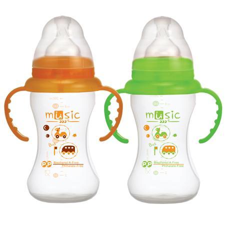 PP 寬口訓練奶瓶 260ml (09911)