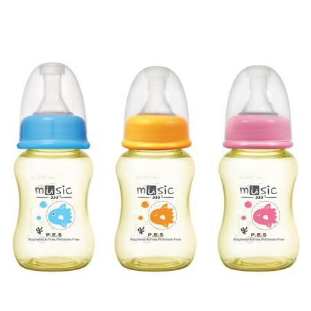 PES方形奶瓶 140ml (05801)