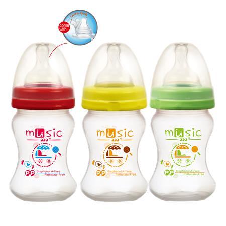 PP寬口防脹氣母乳實感奶瓶 160ml (09932)