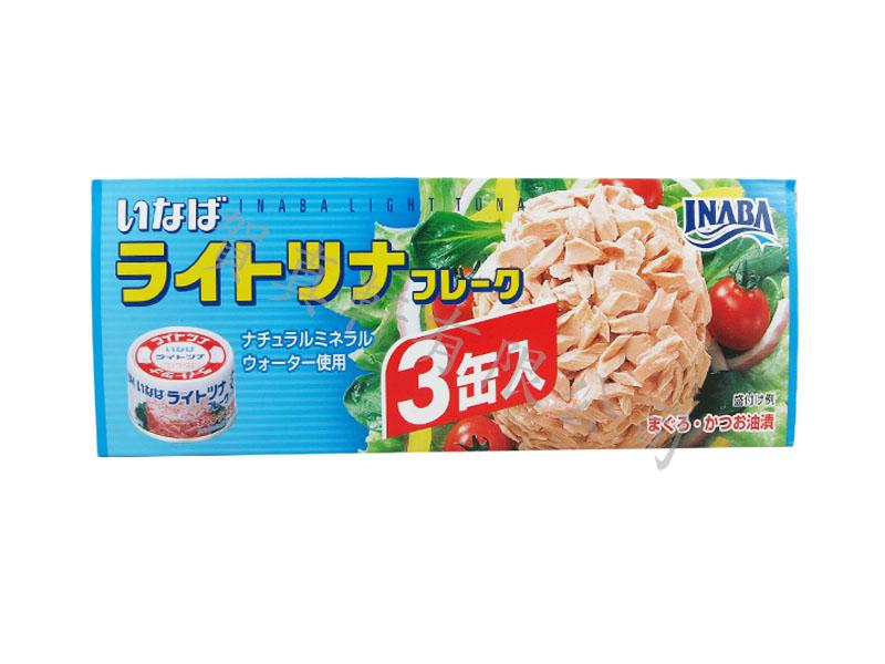 稻葉3入加鰹鮪魚罐礦泉水240g 002854