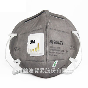 3M 9041V/9042V摺疊式帶閥有機口罩