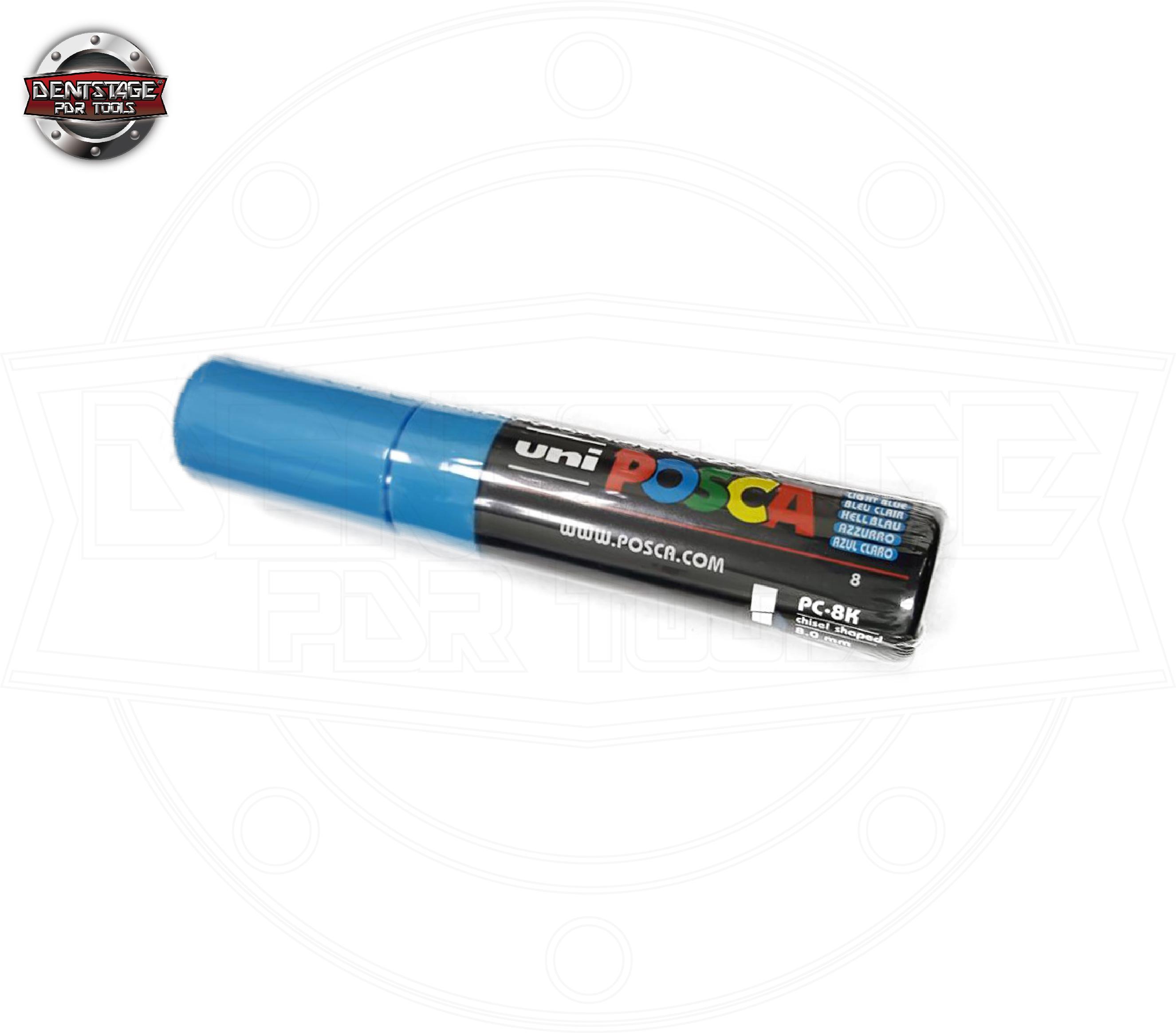 藍色 Posca 車用油性標記筆