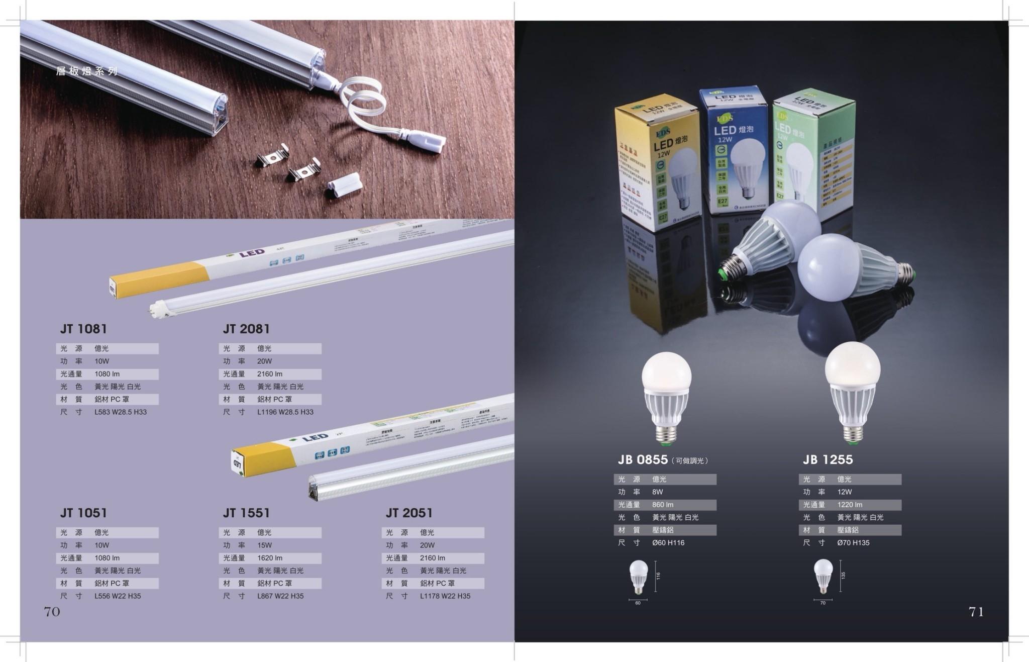 JBRLED T5/T8/燈泡