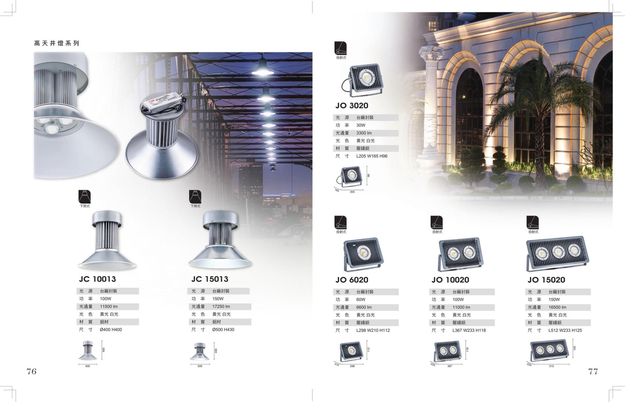 JBR LED天井燈/投射燈
