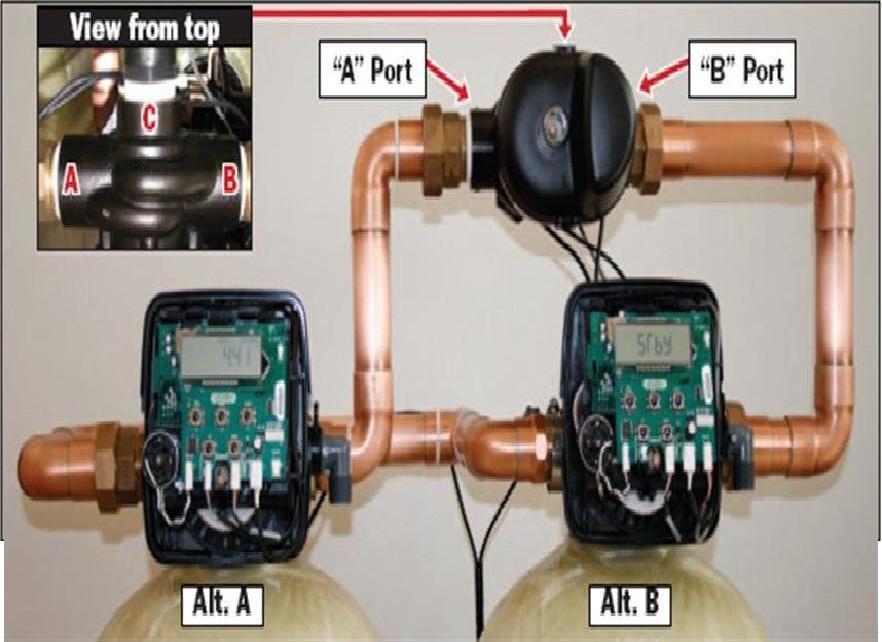 WCI電子流量型一備一用軟水器