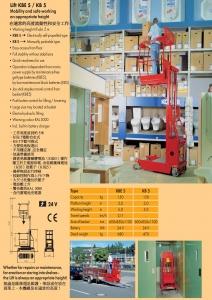 1-4.提升KBE 5 / KB 5 Lift KBE 5 / KB 5 在適當的高度流動性和安全工作 Mobility and safe working on appropriate height