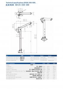 6-2.技術規格SD125-250-500 . Technical specifications SD125-250-500.
