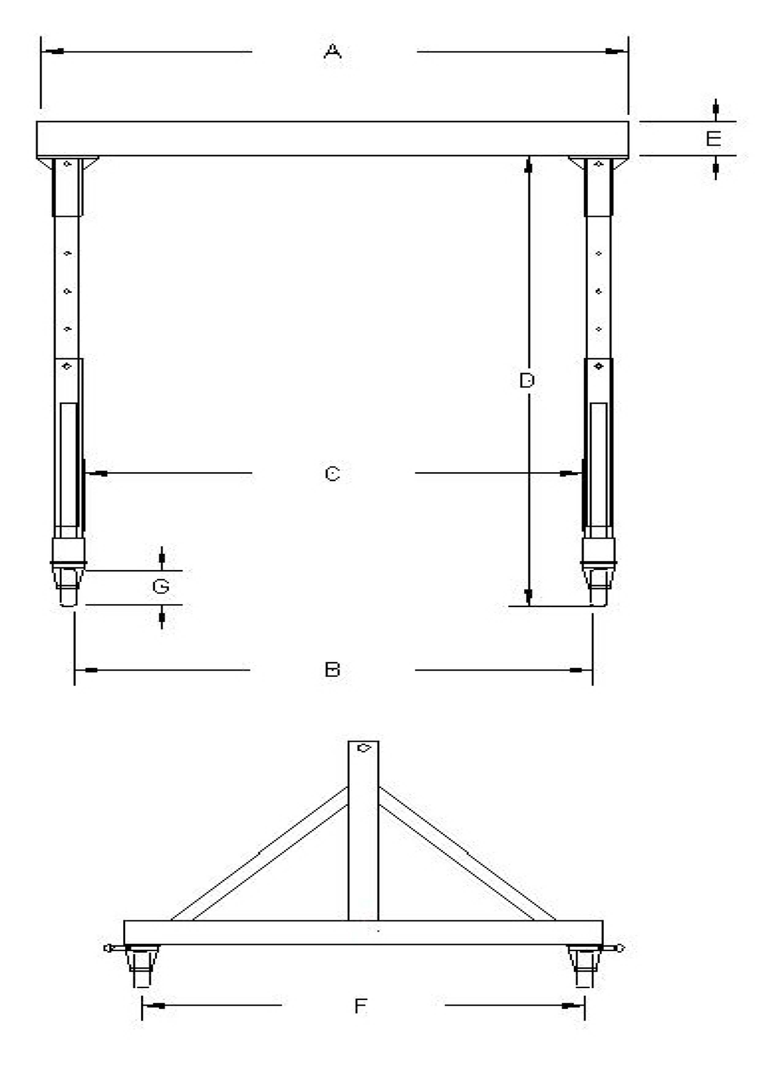 4.不鏽鋼S型龍門吊架
