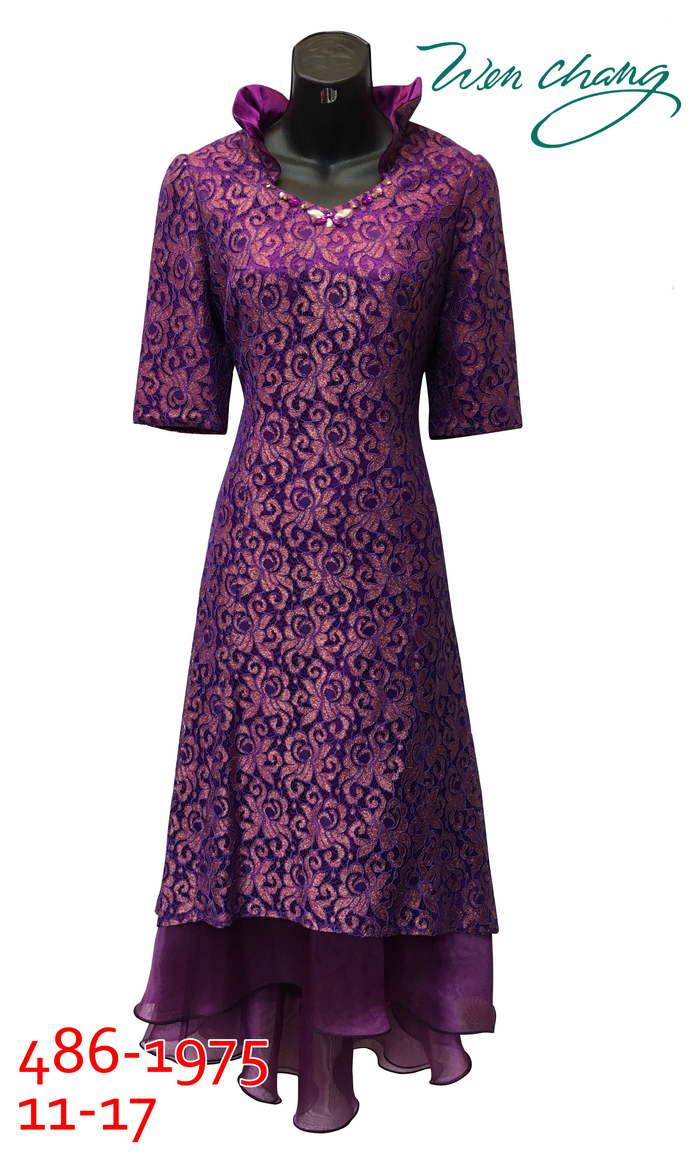 媽媽長禮服-486-1975