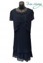 436-7601-春夏媽媽短禮服(藍色)