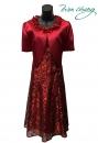 497-9619紅-春夏媽媽短禮服