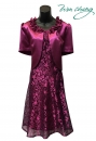 497-9619紫-春夏媽媽短禮服