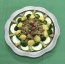 富貴宴席$7000菜色3.陶盤麻油猴頭菇