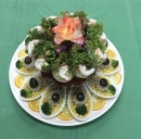 富貴宴席$7000菜色4.素蝦手捲拼真珠丸