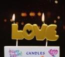 金色字母蠟燭-LOVE(C225323) 商品售價 $ 70