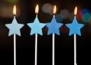 4入藍色系星星蠟燭(C225BS) 商品售價 $ 70