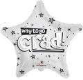 型號:85106-18 18 吋 Way To Go Grad Stars White