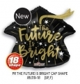 型號: 85319-18 18吋The future is bright黑色畢業帽