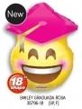 型號: 35796-18 18 吋 粉色畢業帽笑臉