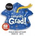 型號: 85320-18 18 吋 Congrats grad 藍色畢業帽