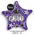 型號:85336-18 18 吋Grad Star 畢業紫星(紫紅)
