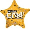 型號:85101-18 18 吋 Way To Go Grad Stars Gold