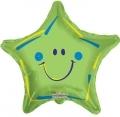 型號:19306-18 18吋綠色笑臉星星