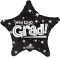 型號:85107-18 18 吋 Way To Go Grad Stars Black