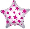 型號:34388-22 22吋 Hot Pink Patterned Star (透明桃)