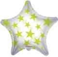 型號:34389-22 22吋 Lime Green Patterned Star(透明綠